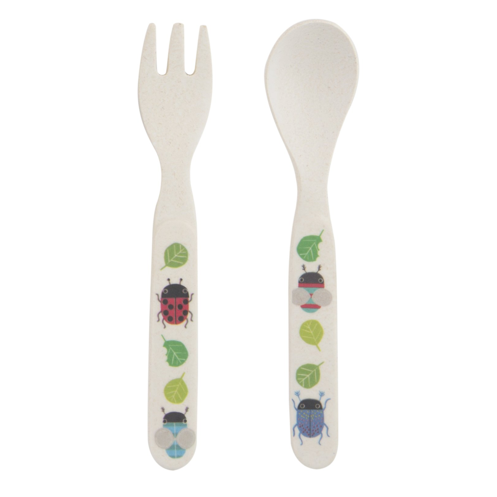 Busy Bugs Bamboo Fork & Spoon Set