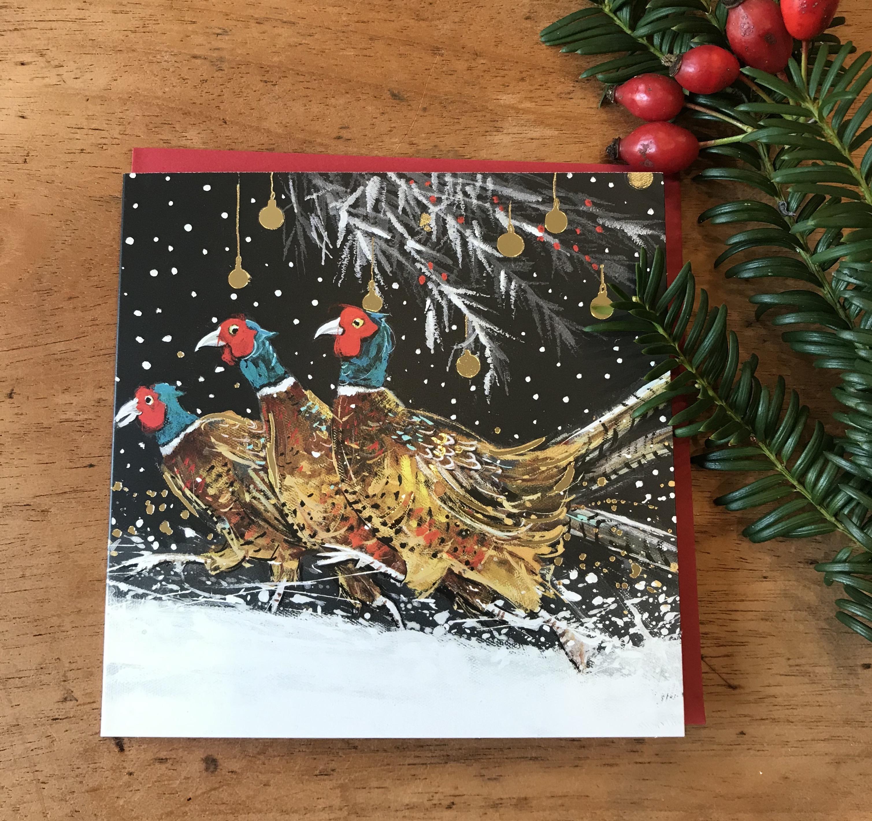 'Christmas Pheasants' Charity Christmas Card Pack - was £4.50