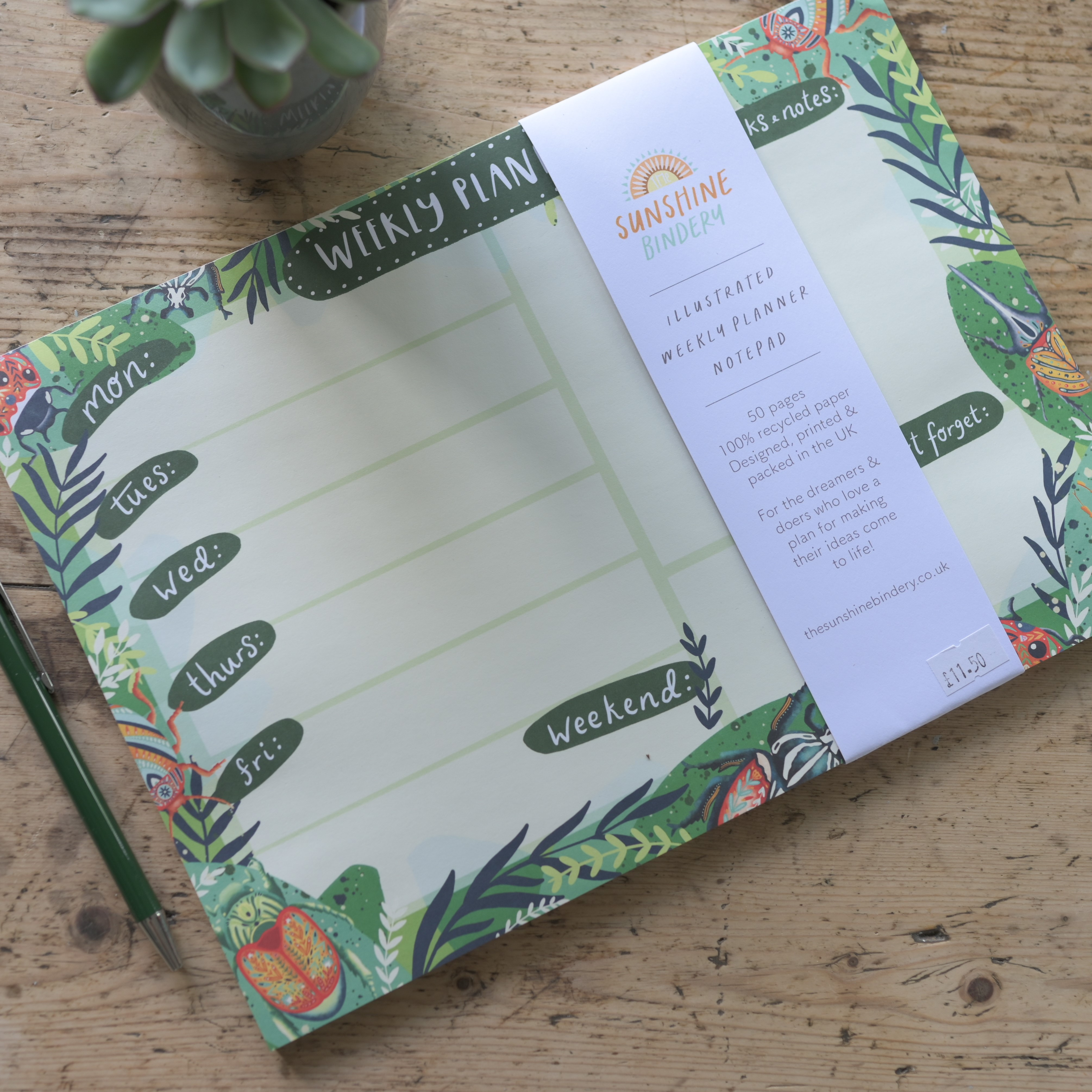 Weekly Planner, The Sunshine Bindery