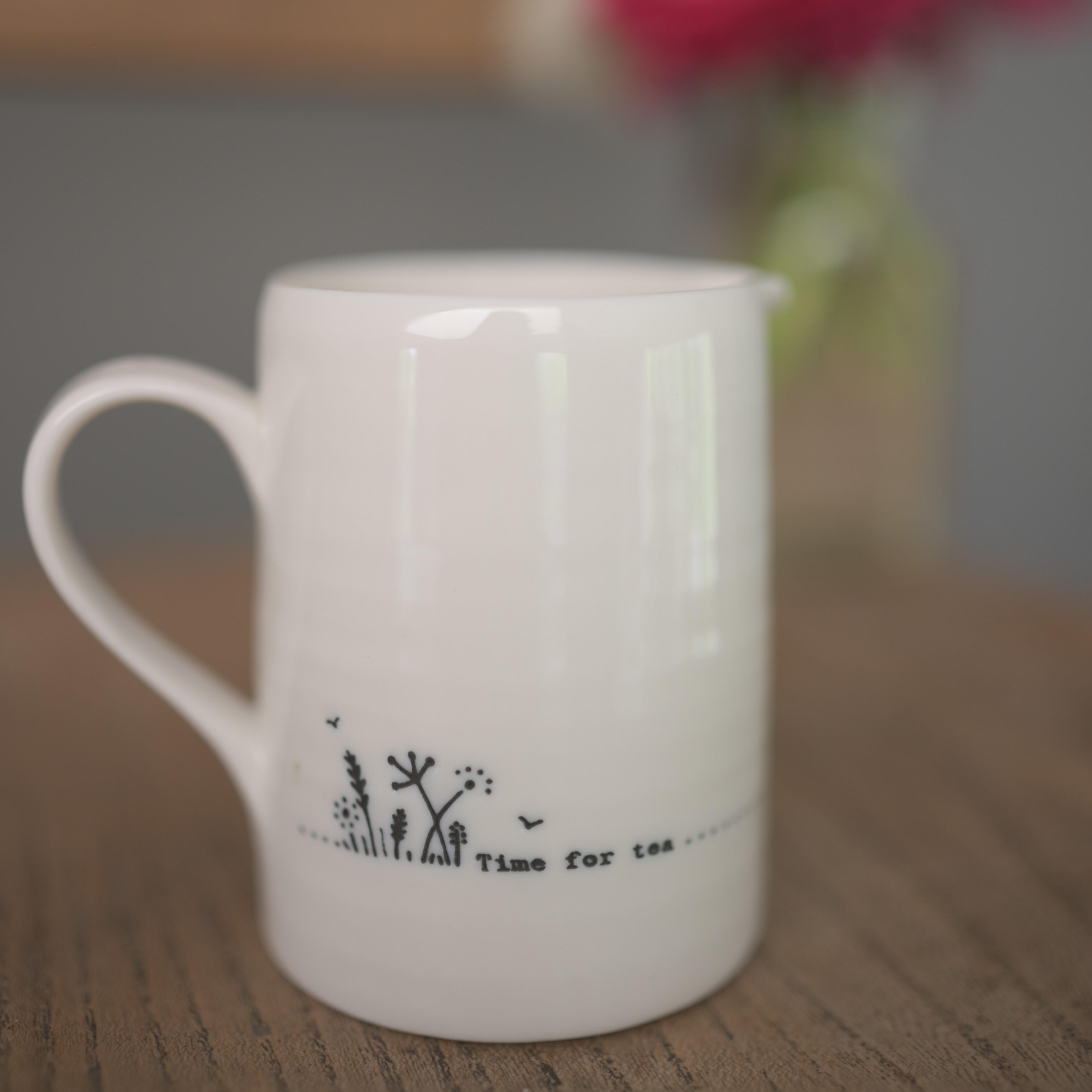 'Time For Tea' Small Porcelain Jug