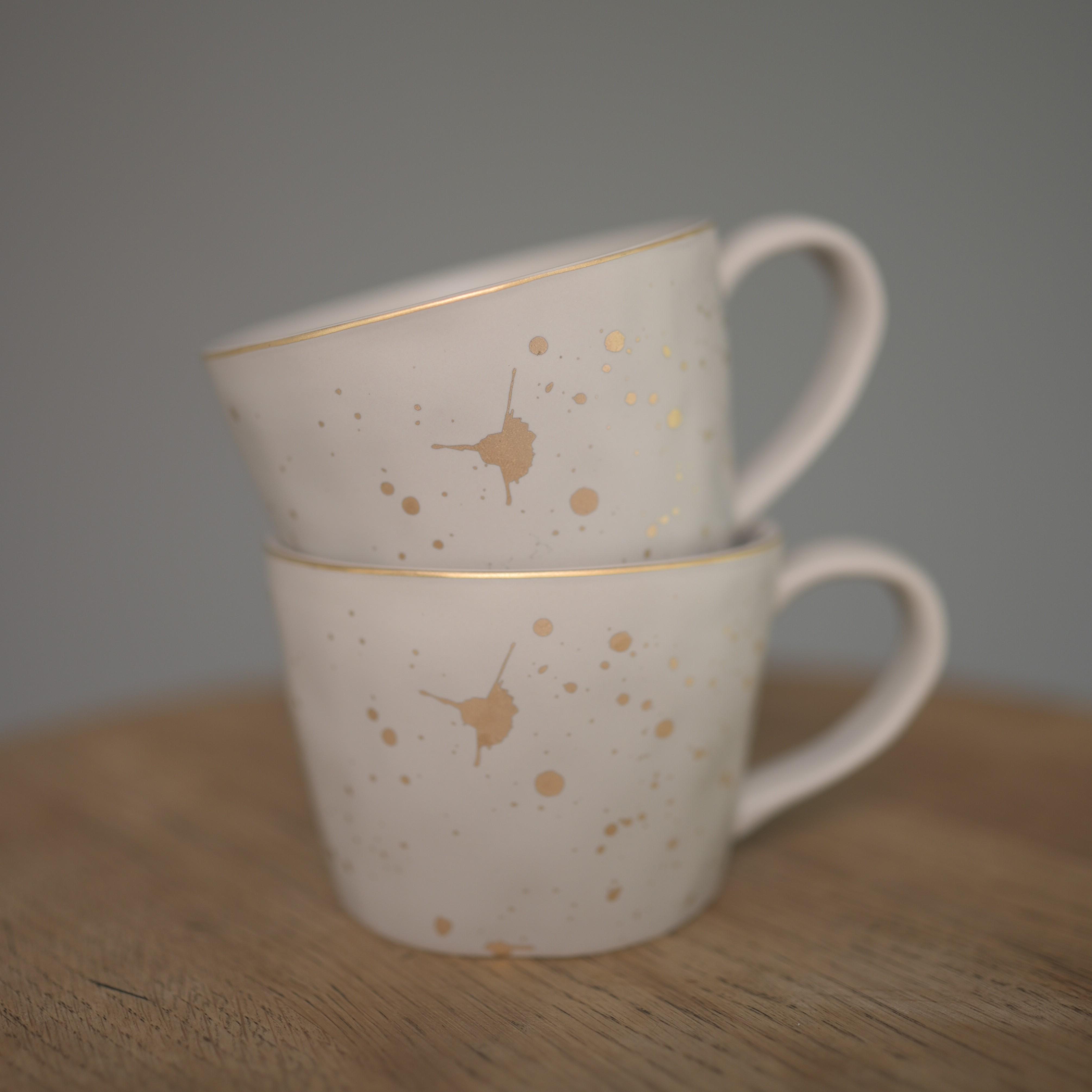 Gold Splash Artisan Ceramic Mug