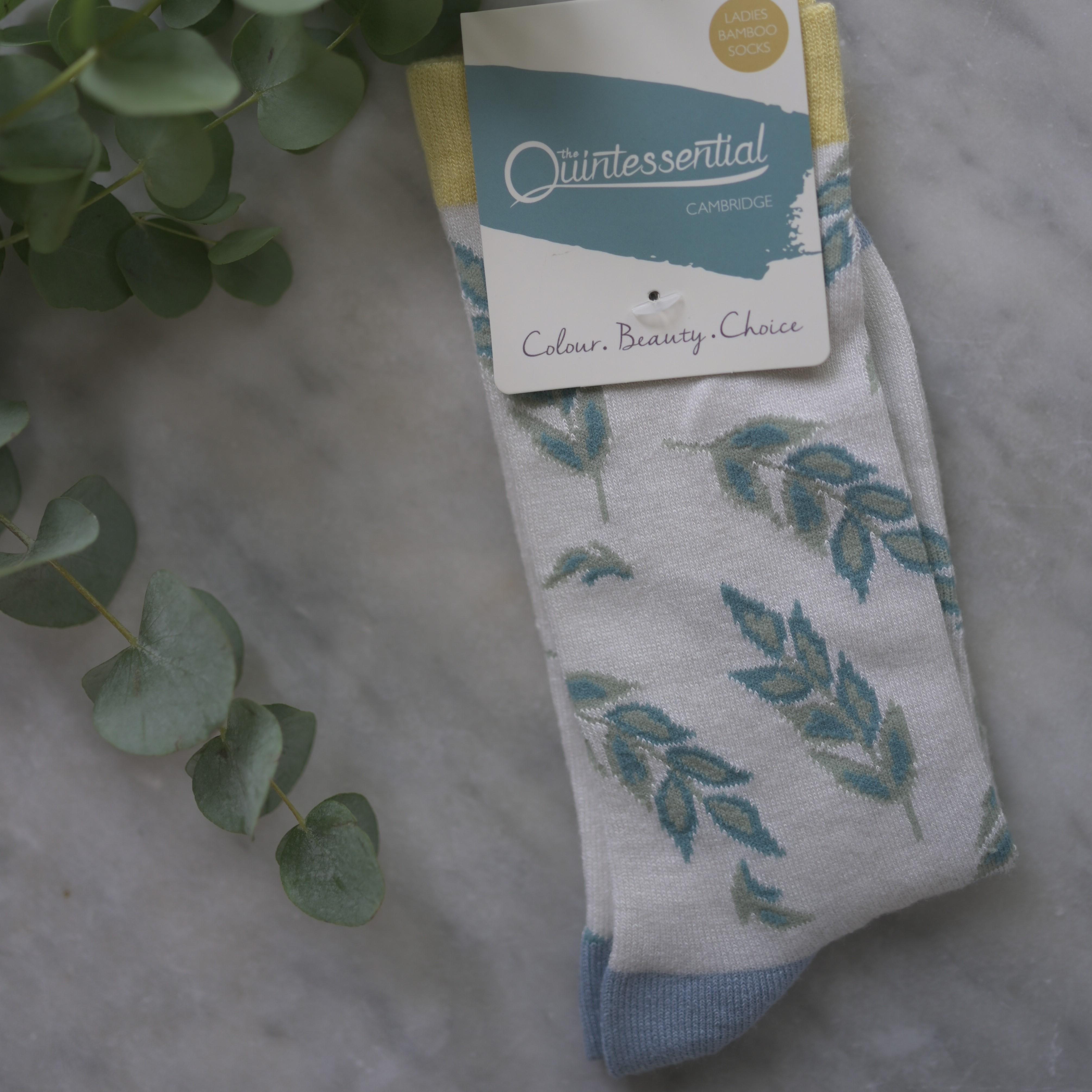 Women's Cream Corn Bamboo Socks