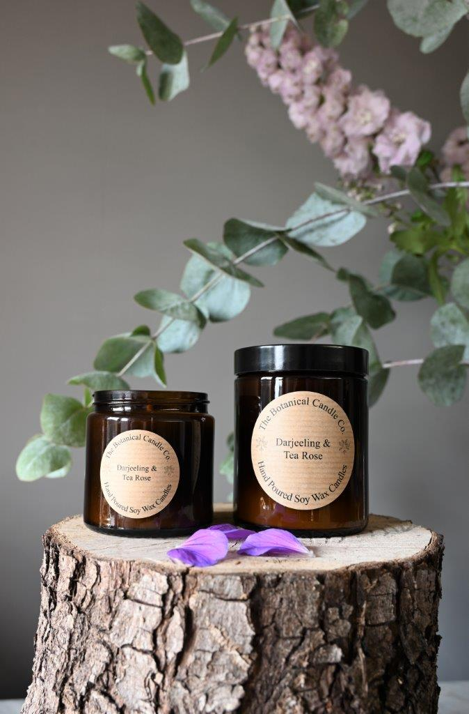 Darjeeling & Tea Rose Candle by Botanical Candle Co.