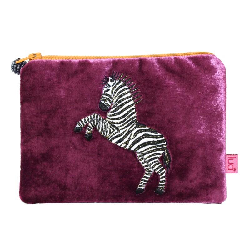 Velvet Zebra Purse