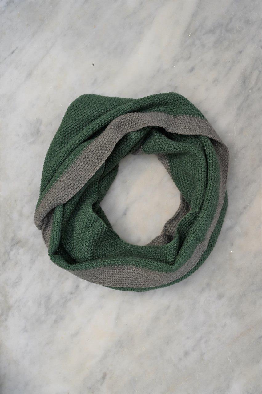 Moss Stitch Snood, Sage Green