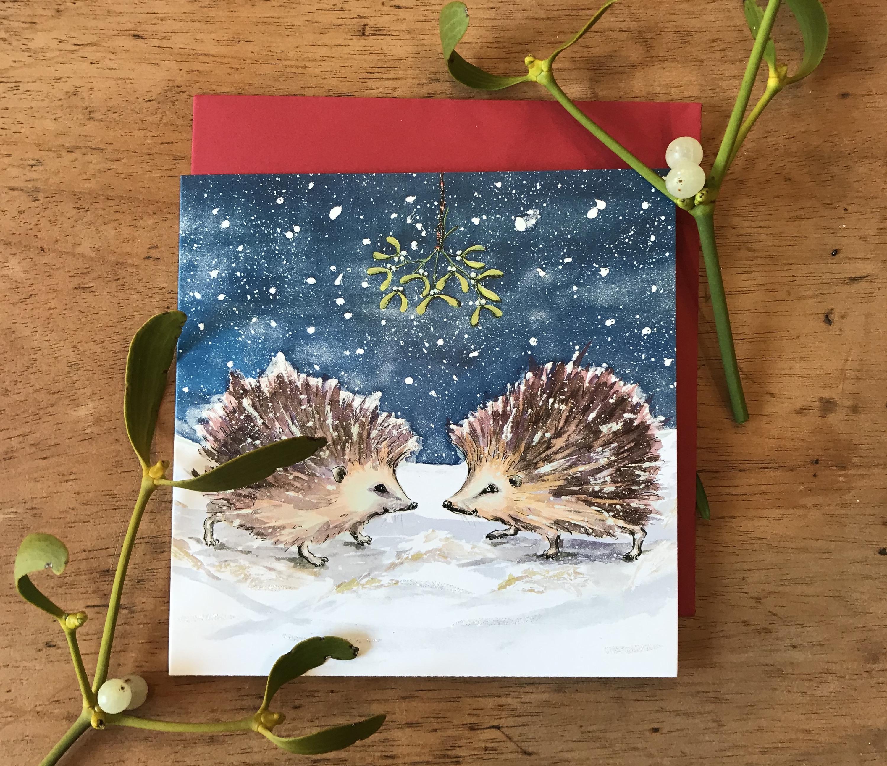 'Christmas Kiss' Charity Christmas Card Pack - was £4.50