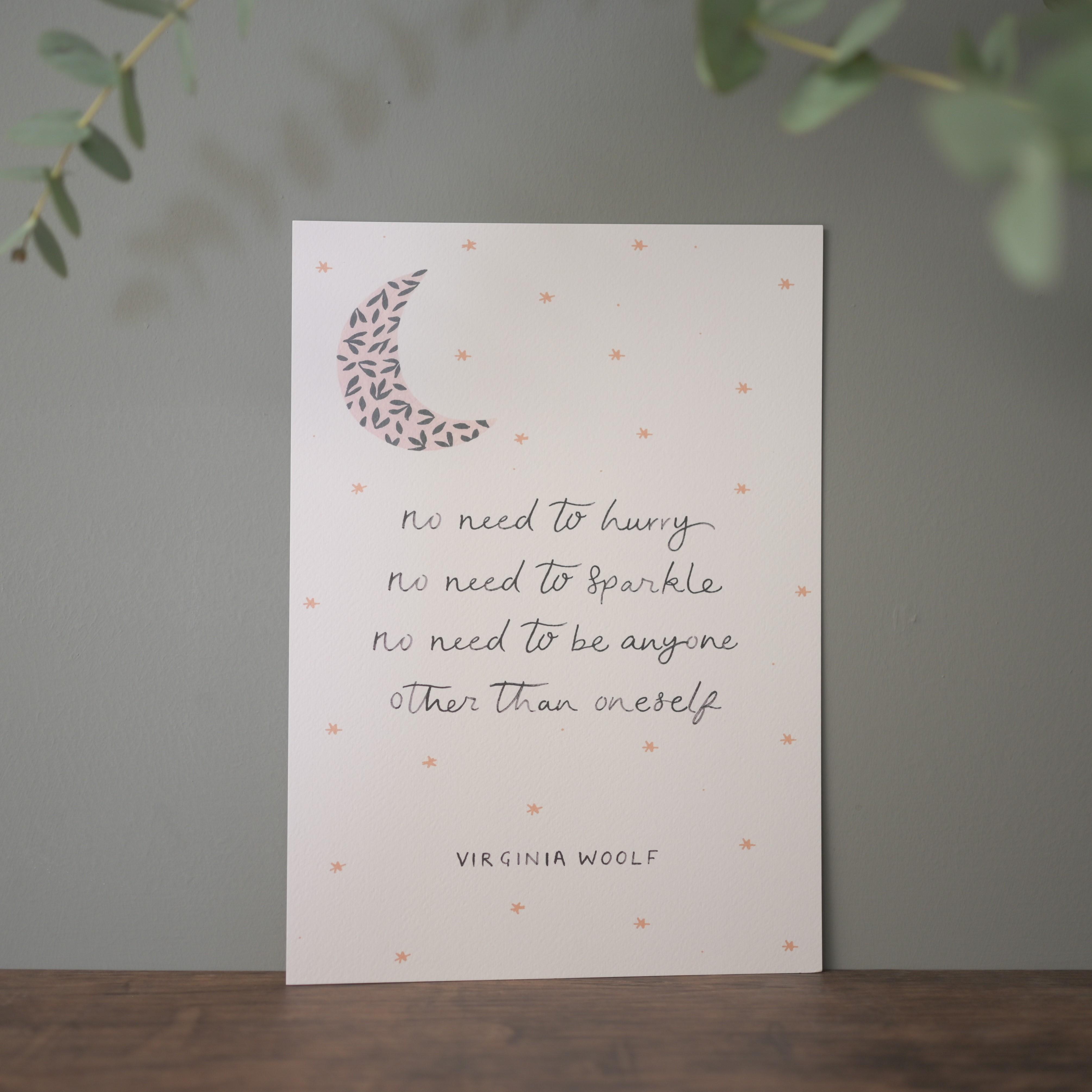 Virginia Woolf Print, Hidden Pearl Studio