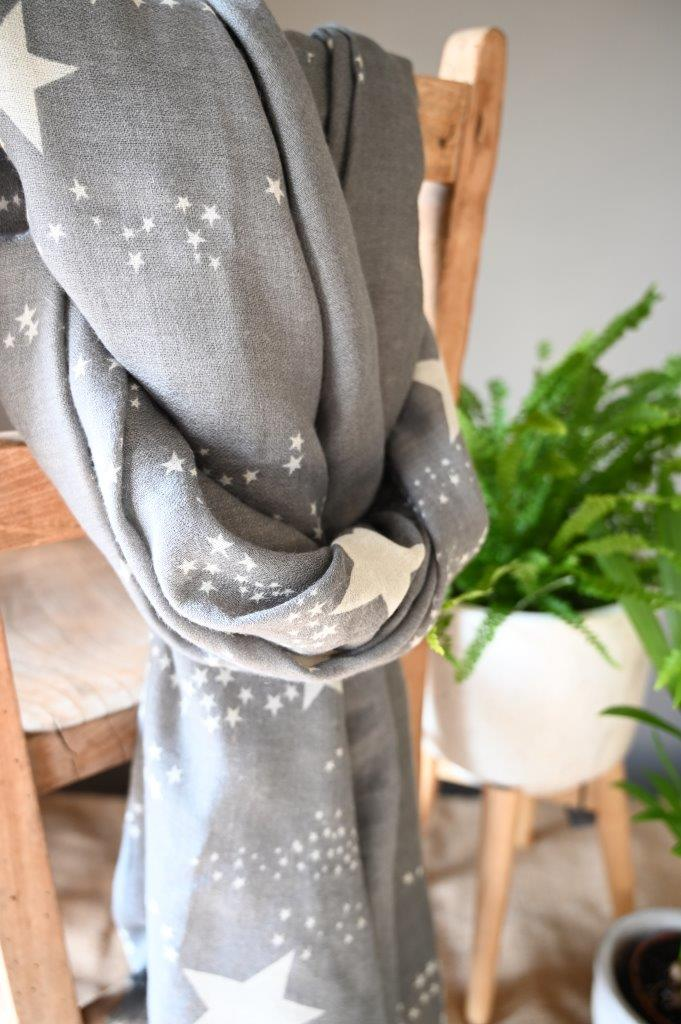 Grey Star Scarf