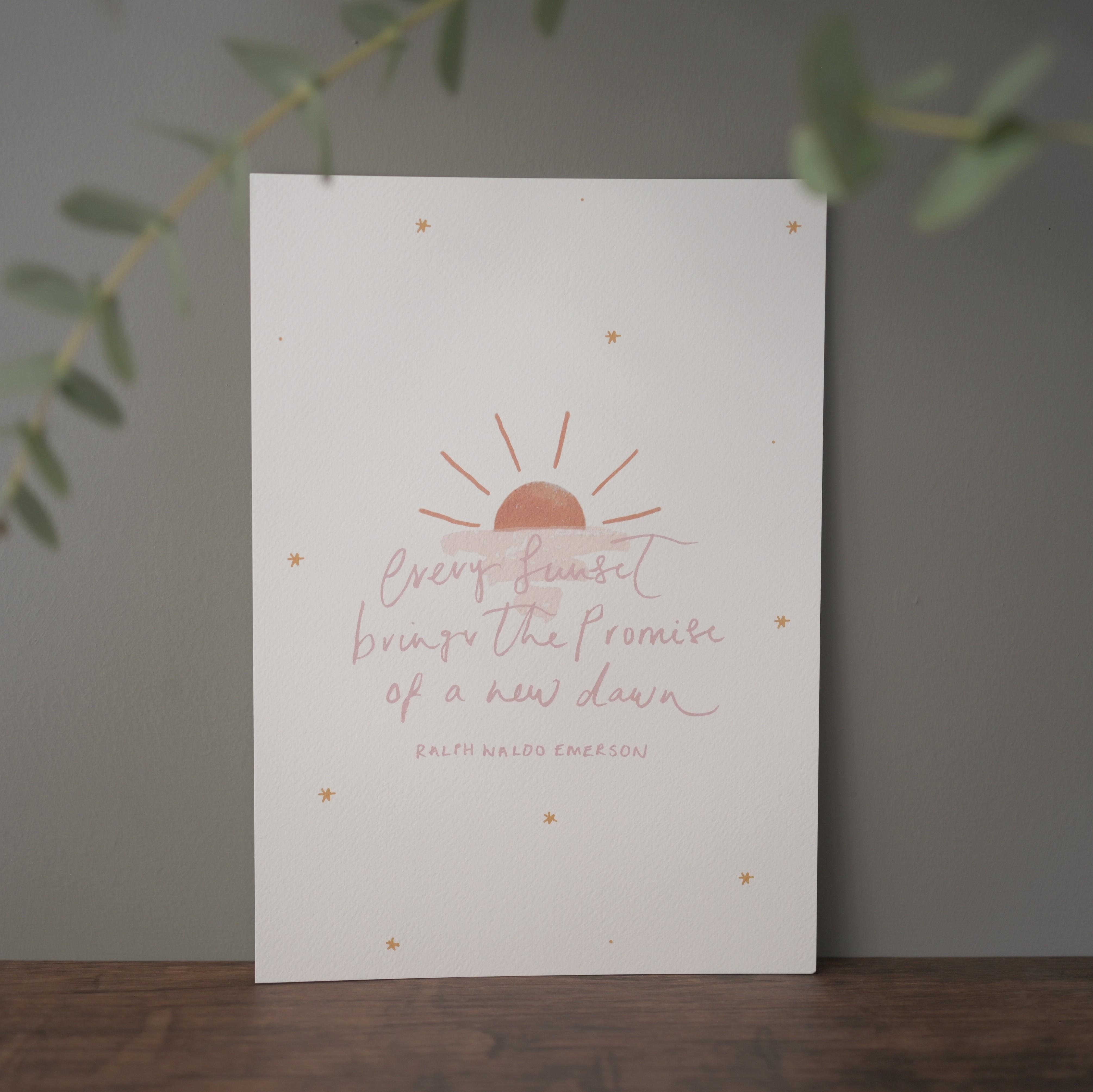 Emerson-Sunset Print, Hidden Pearl Studio