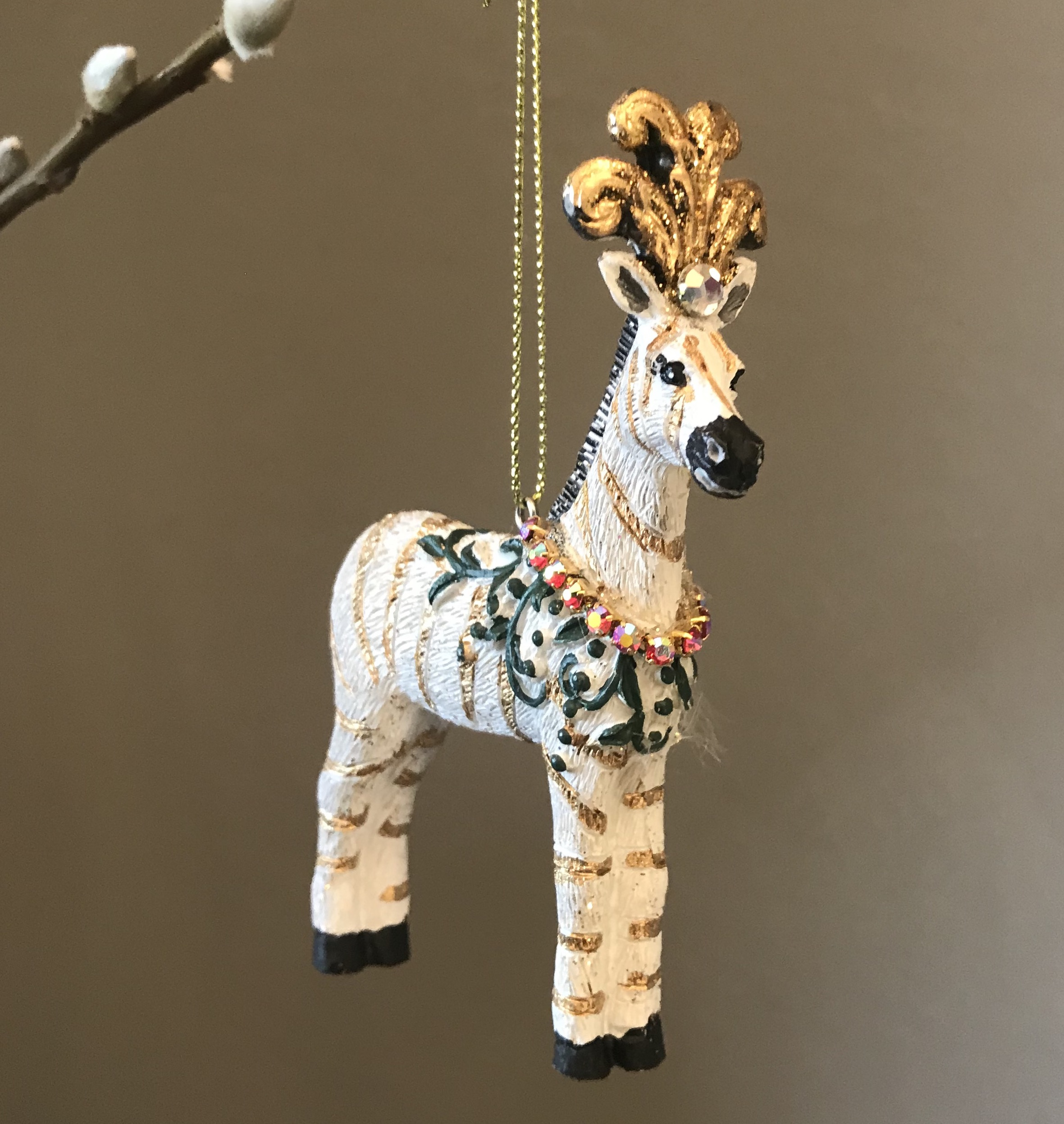 Resin Zebra Tree Decoration - was £7.25