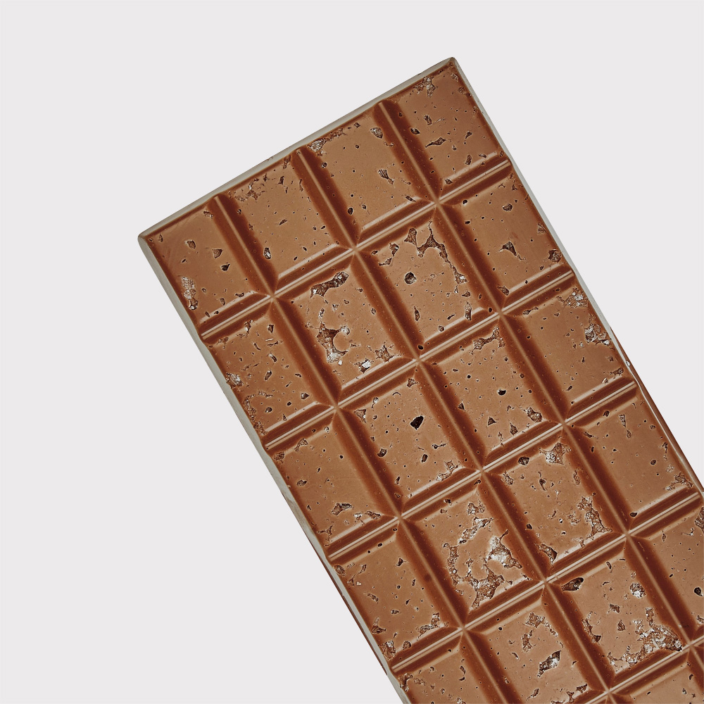 Milk chocolate with sea salt