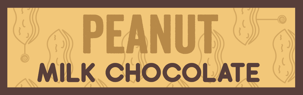 Milk chocolate with peanut