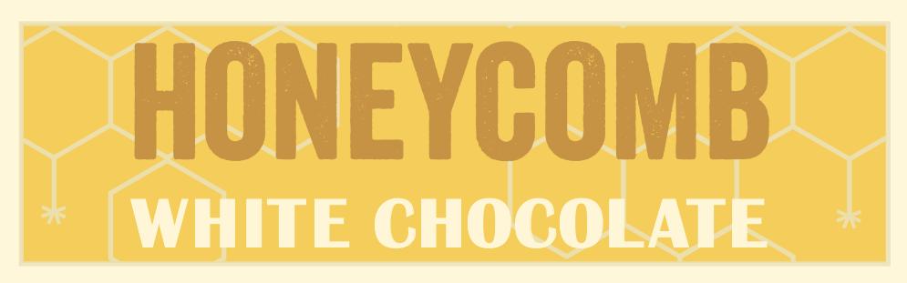 White chocolate with honeycomb