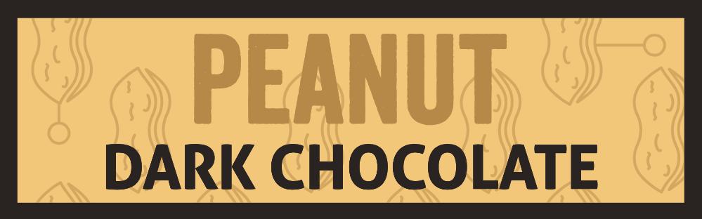 Dark chocolate with peanut
