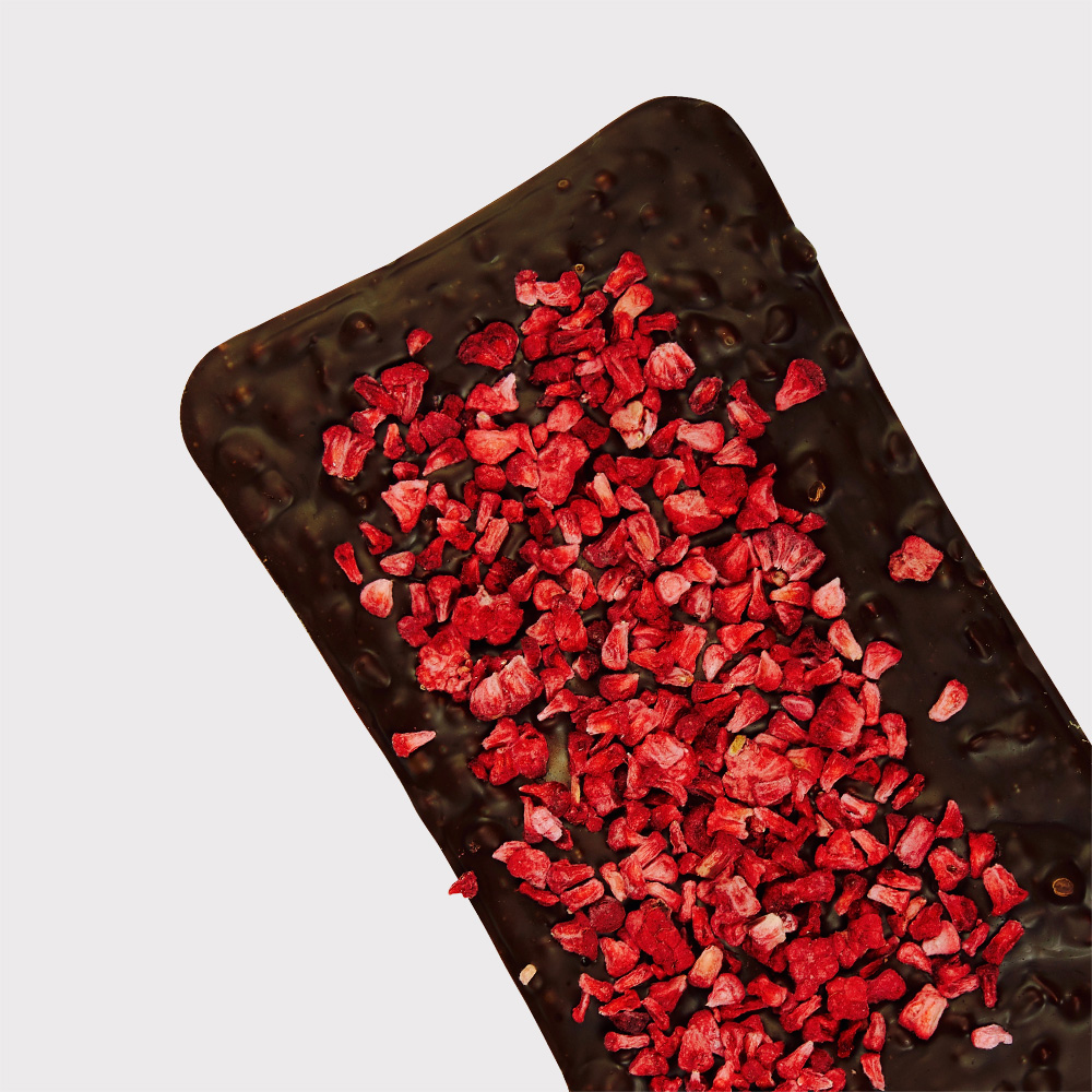 Dark chocolate with raspberry