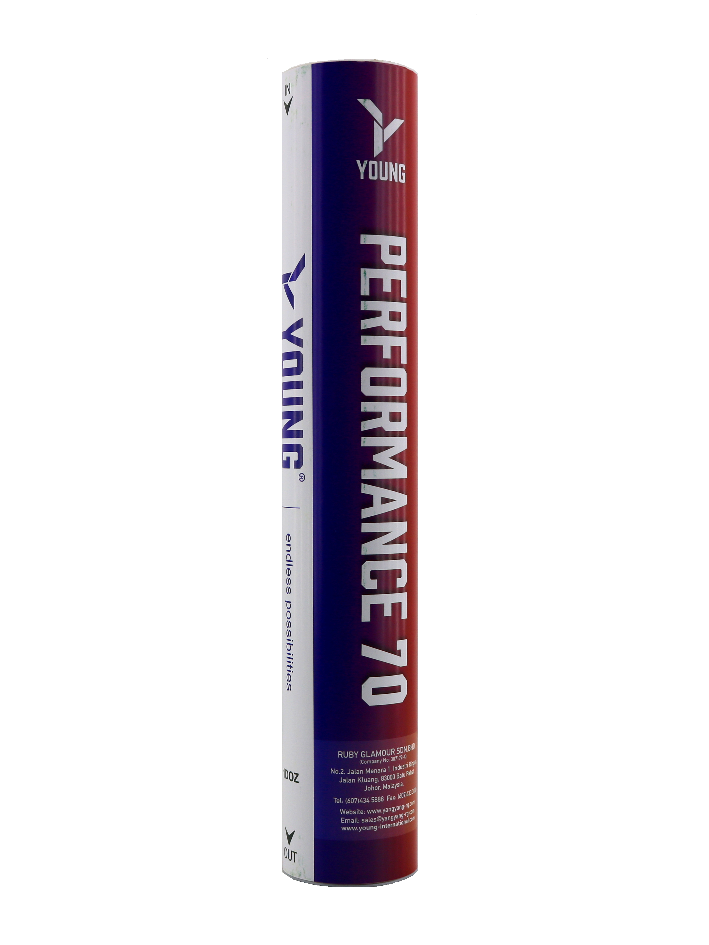 Young Performance 70 Tournament Grade Highest Quality Goose Feather Shuttlecock