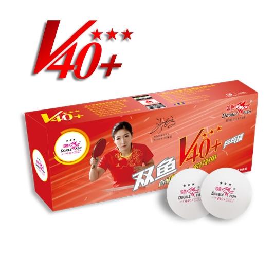 DoubleFish 40+3-stars Table Tennis Ball (10 pcs).
