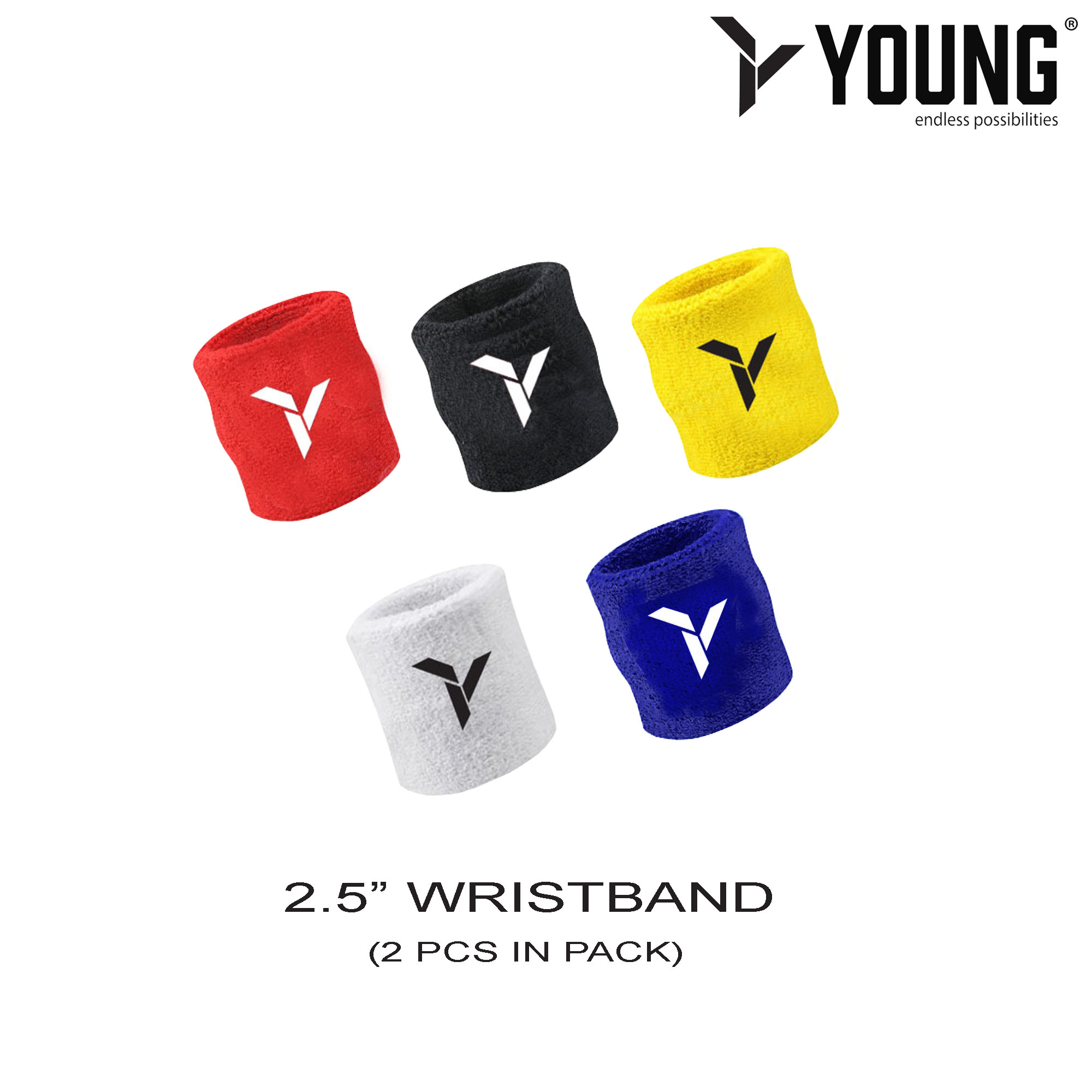 YOUNG Wristbands 2pcs