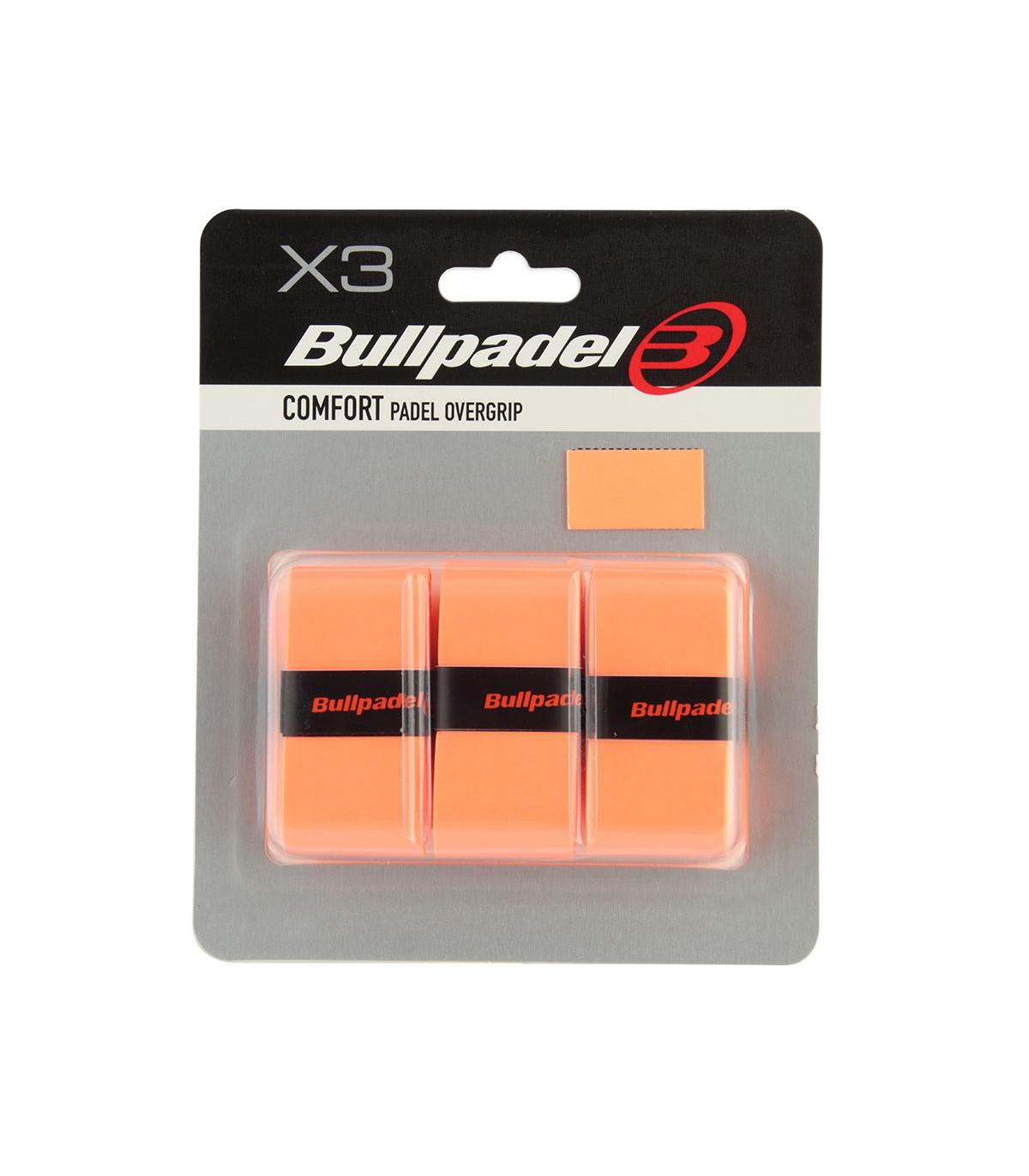 BULLPADEL  OVERGRIP GB1200-529 NARANJA FLUOR 3-PACK