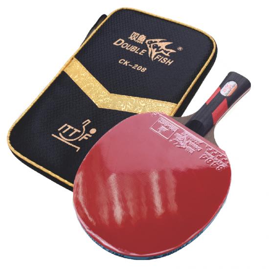 Double Fish Golden Table Tennis Racket
