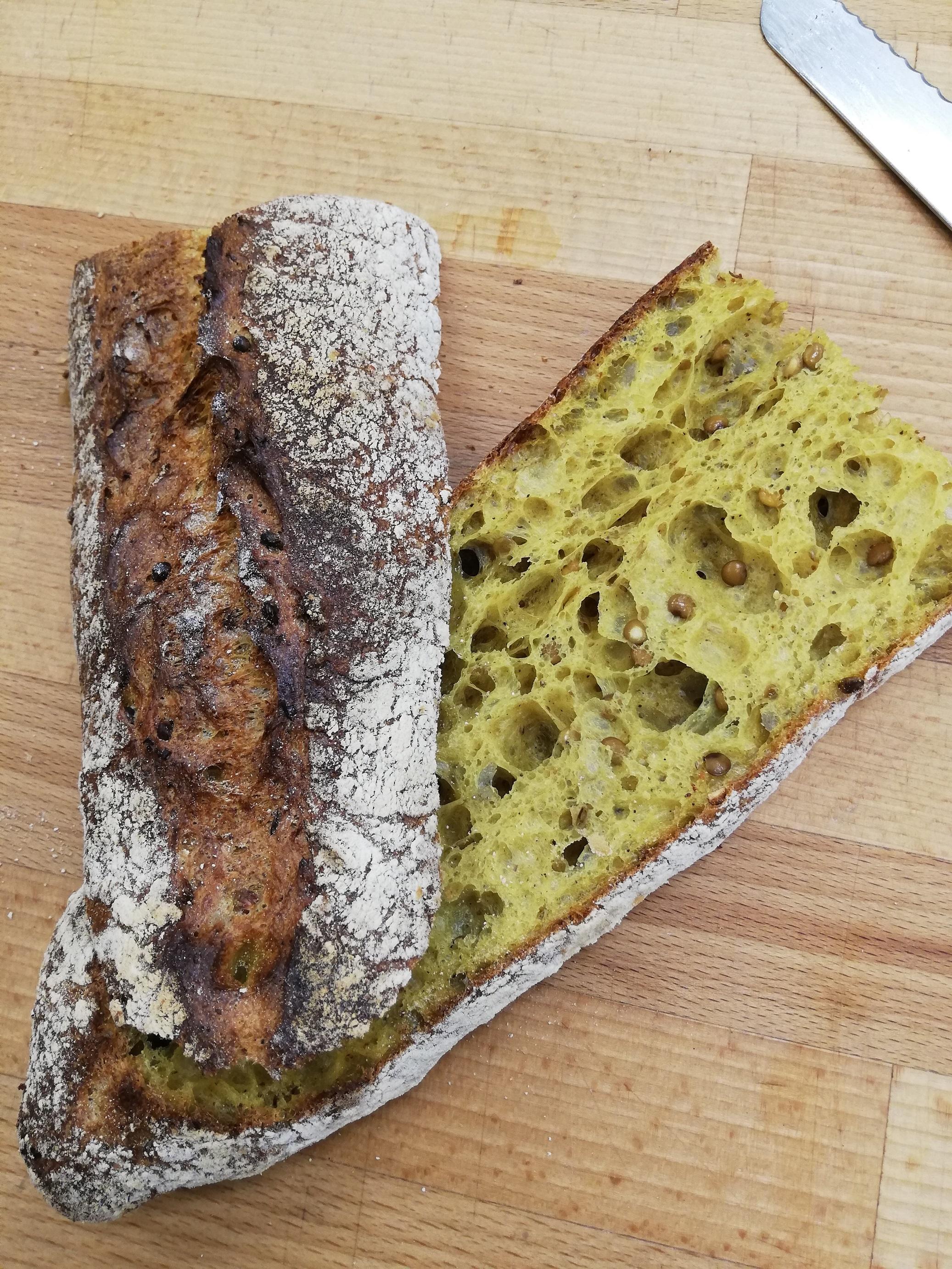 (WED) Curried lentil baguette