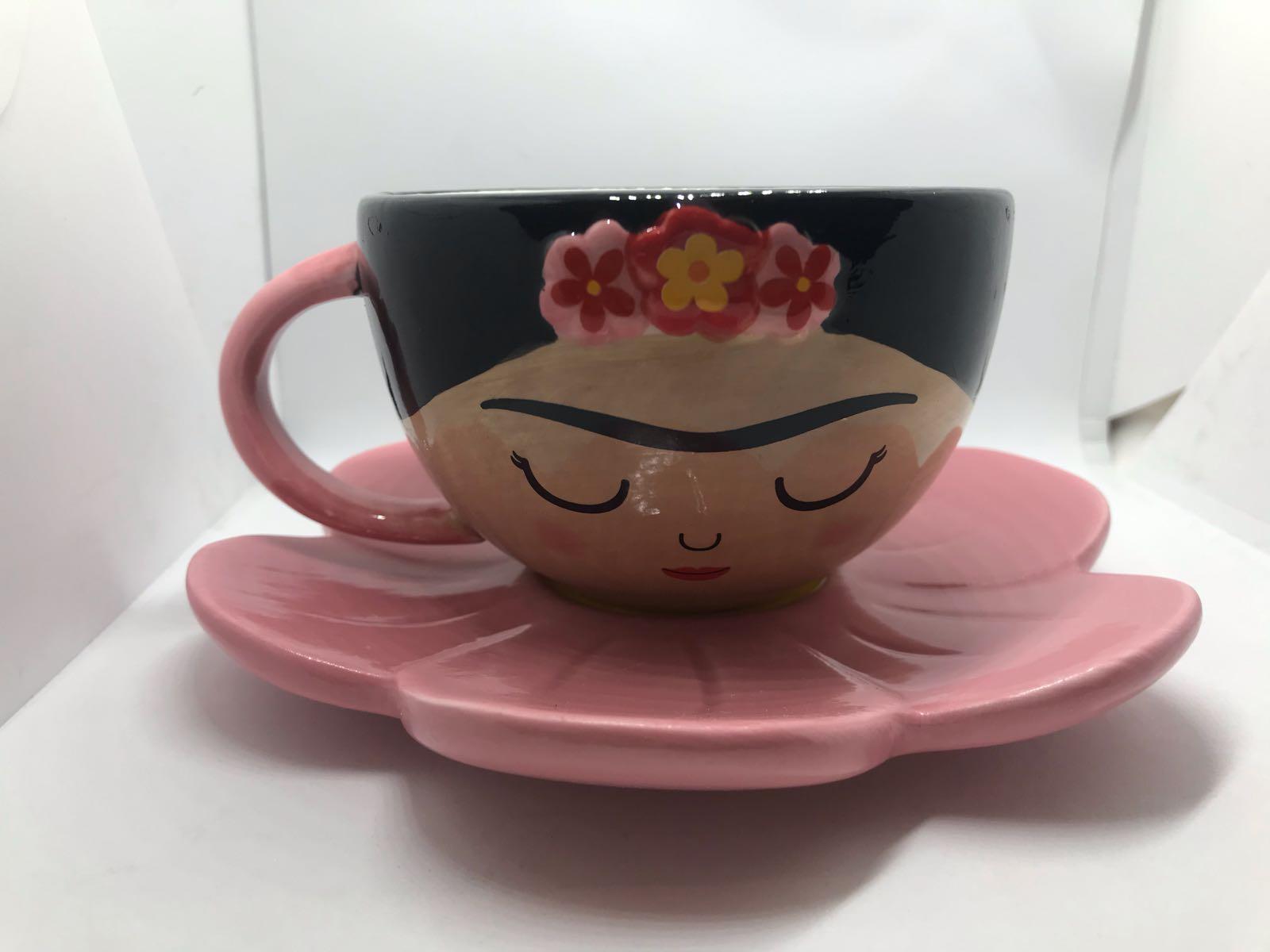 Frida cup & flower saucer set