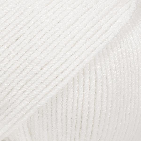 Drops Baby Merino, 01 uni colour hvit