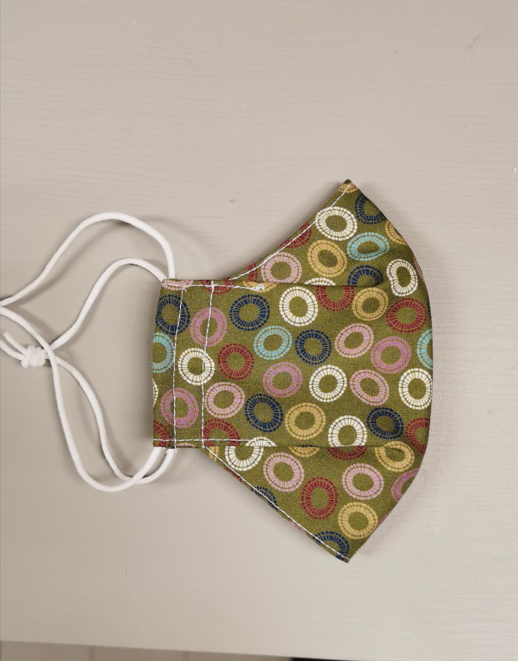Munnbind med nesebøyle, sirkler Ungdom/Voksen