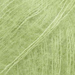 Drops Kid-Silk, uni colour 18 eplegrønn