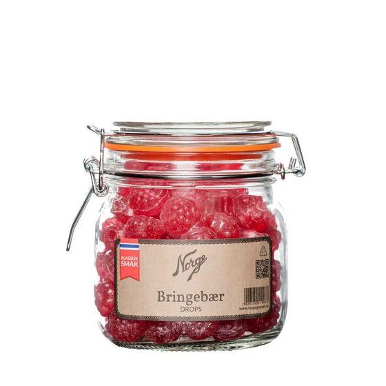 Norgesglass Drops bringebær