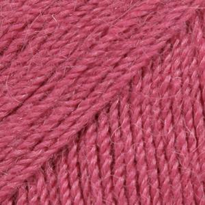 Drops Alpaca, uni colour 3770 mørk rosa