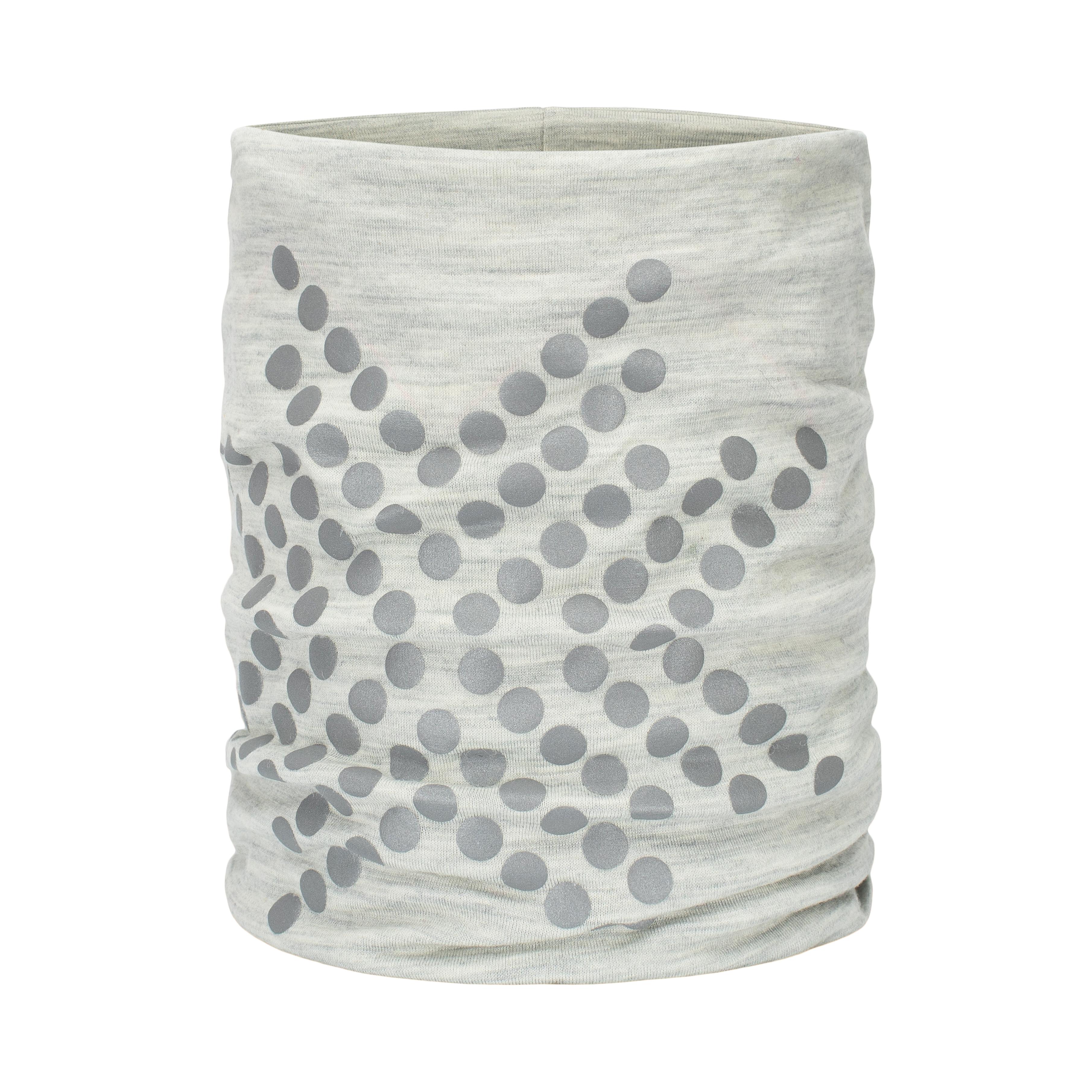 Morild Sølvfaks hals med refleks, lysegrå