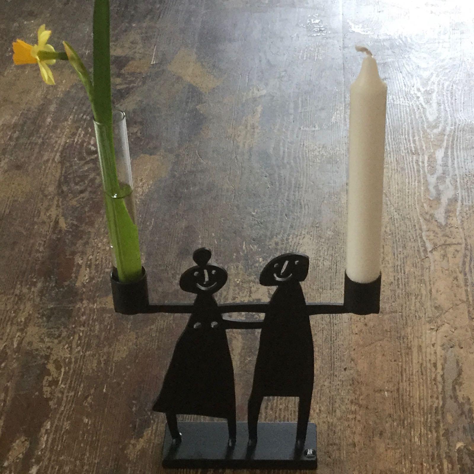 """kerzenhalter/leuchter """"paar"""", ca. 19,5 x 19 cm, lackierter stahl, bengt & lotta"""