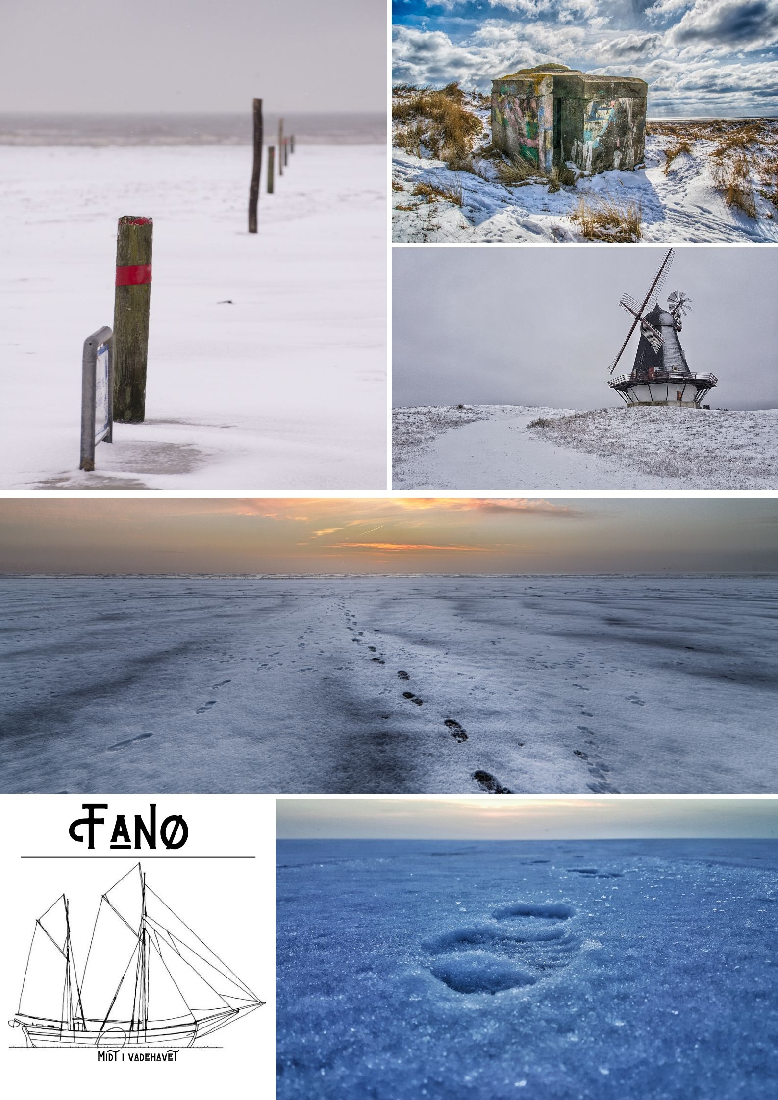 Fanø Plakat - Vinter