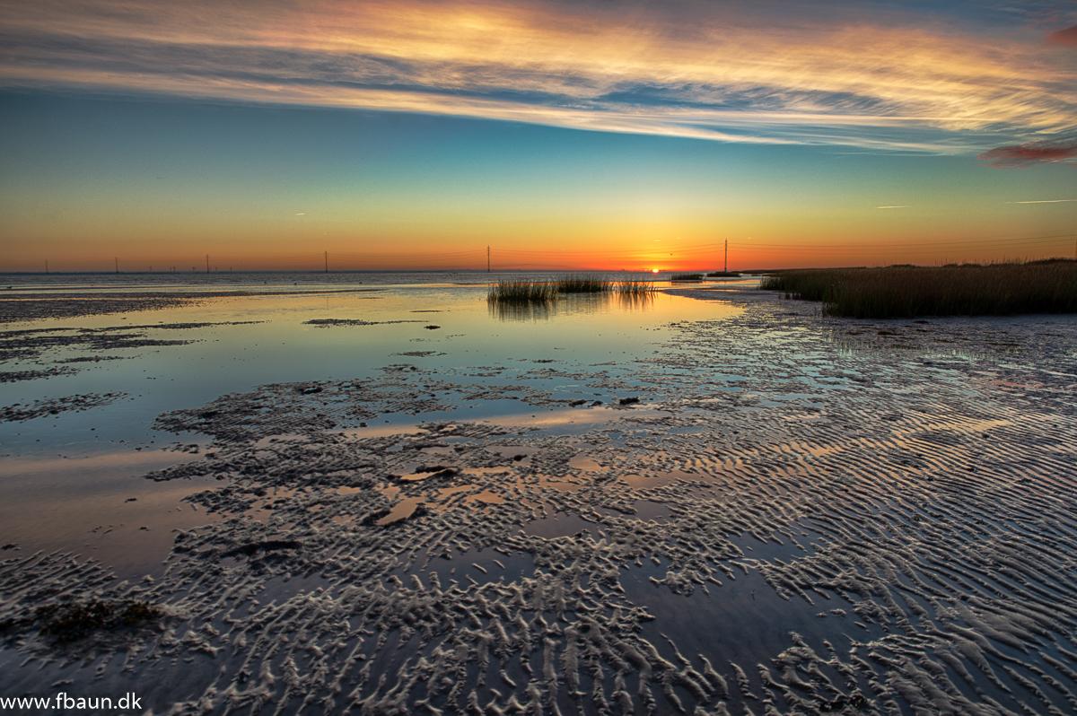 Sol opgang over Vadehavet