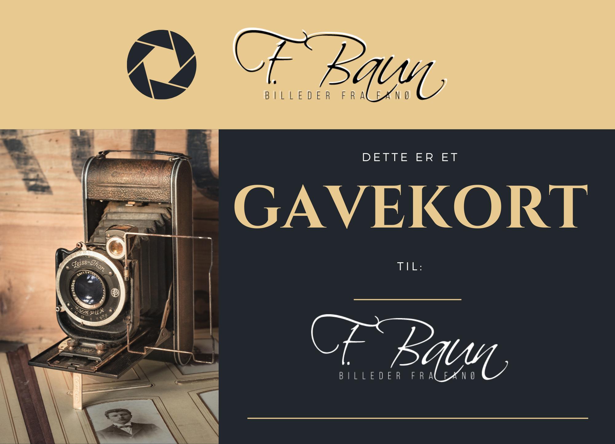 Gavekort - fotografering i studie