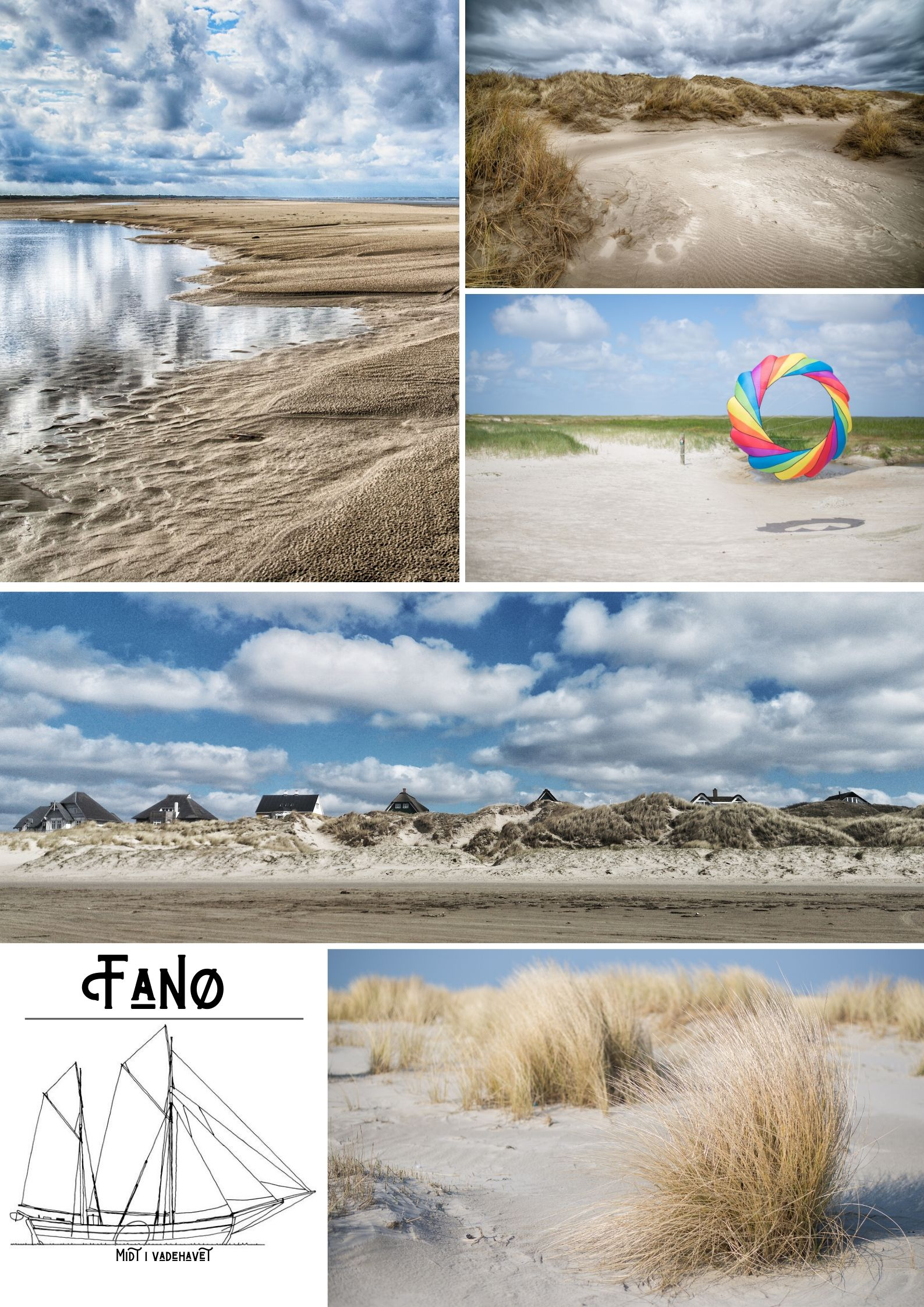 Fanø strand Plakat