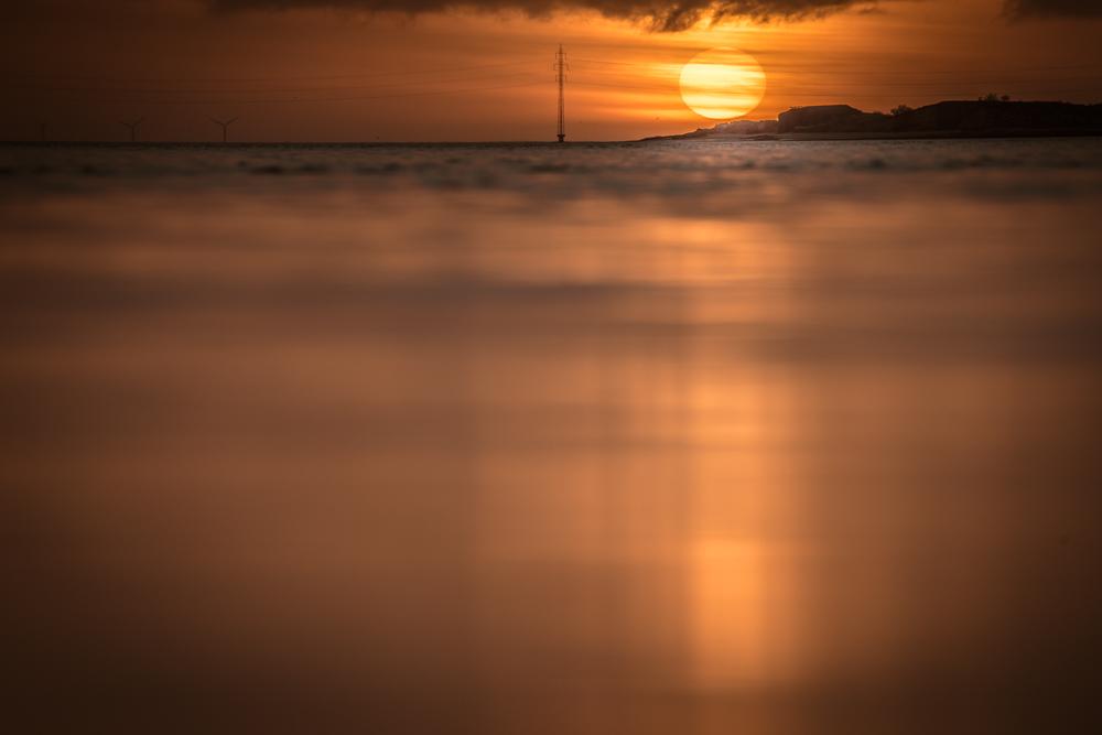 Solen står op over Halen på Fanø