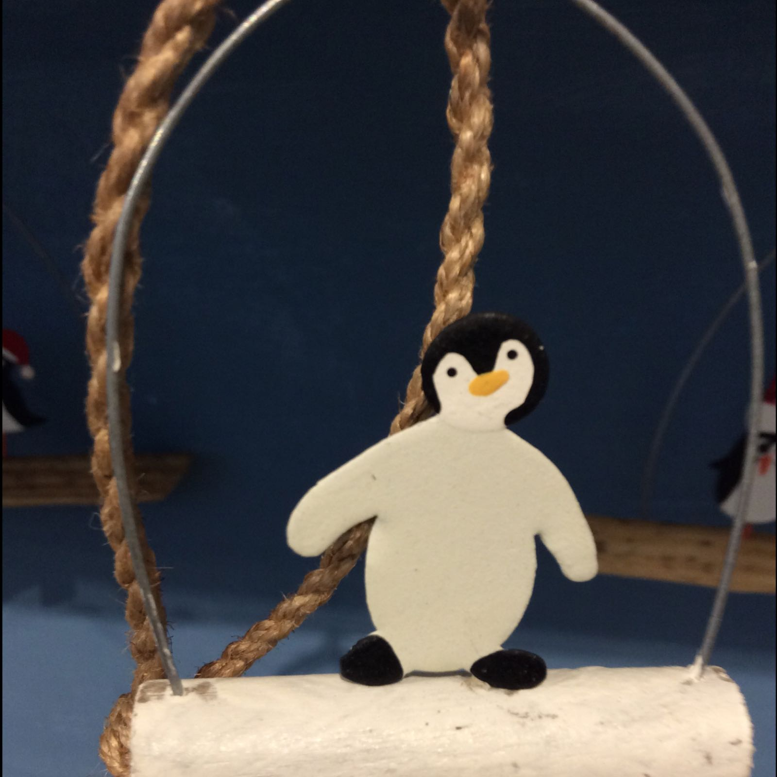 Penguin on a stick