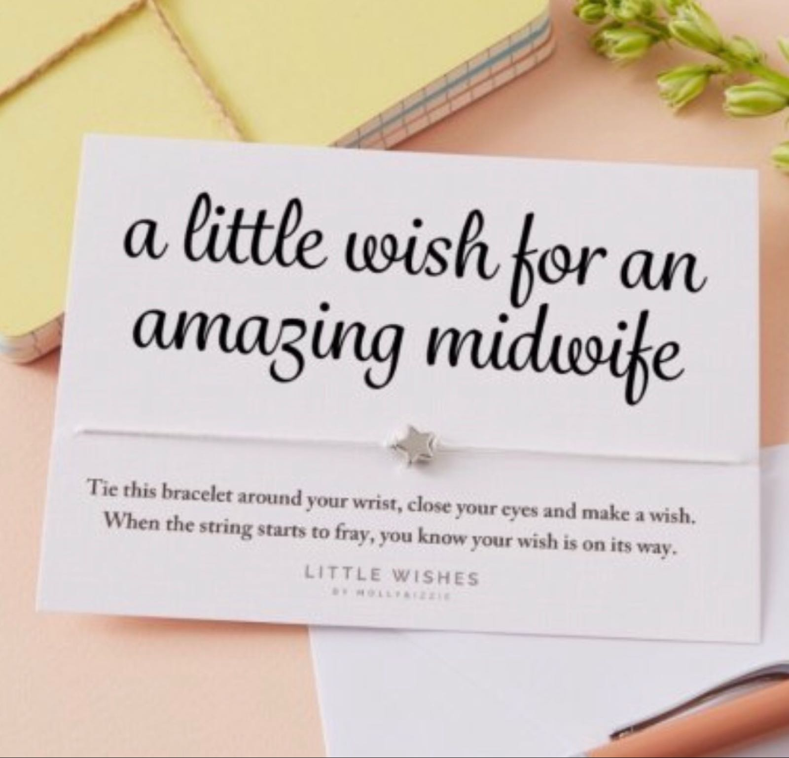 Amazing midwife  wish bracelet