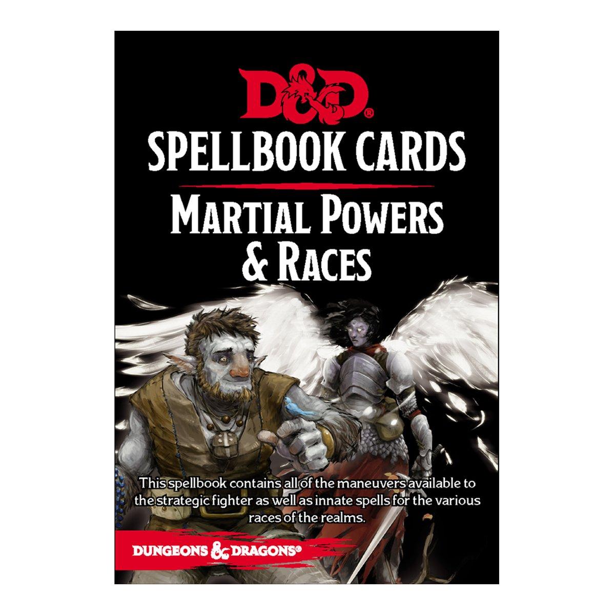 D & D Spellbook Cards - Martial Powers & Races