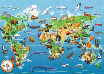 Endangered Animals Giant Floor Puzzle 60pc