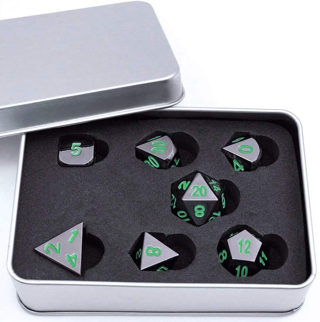 Metal Polyhedral 7 Dice Set