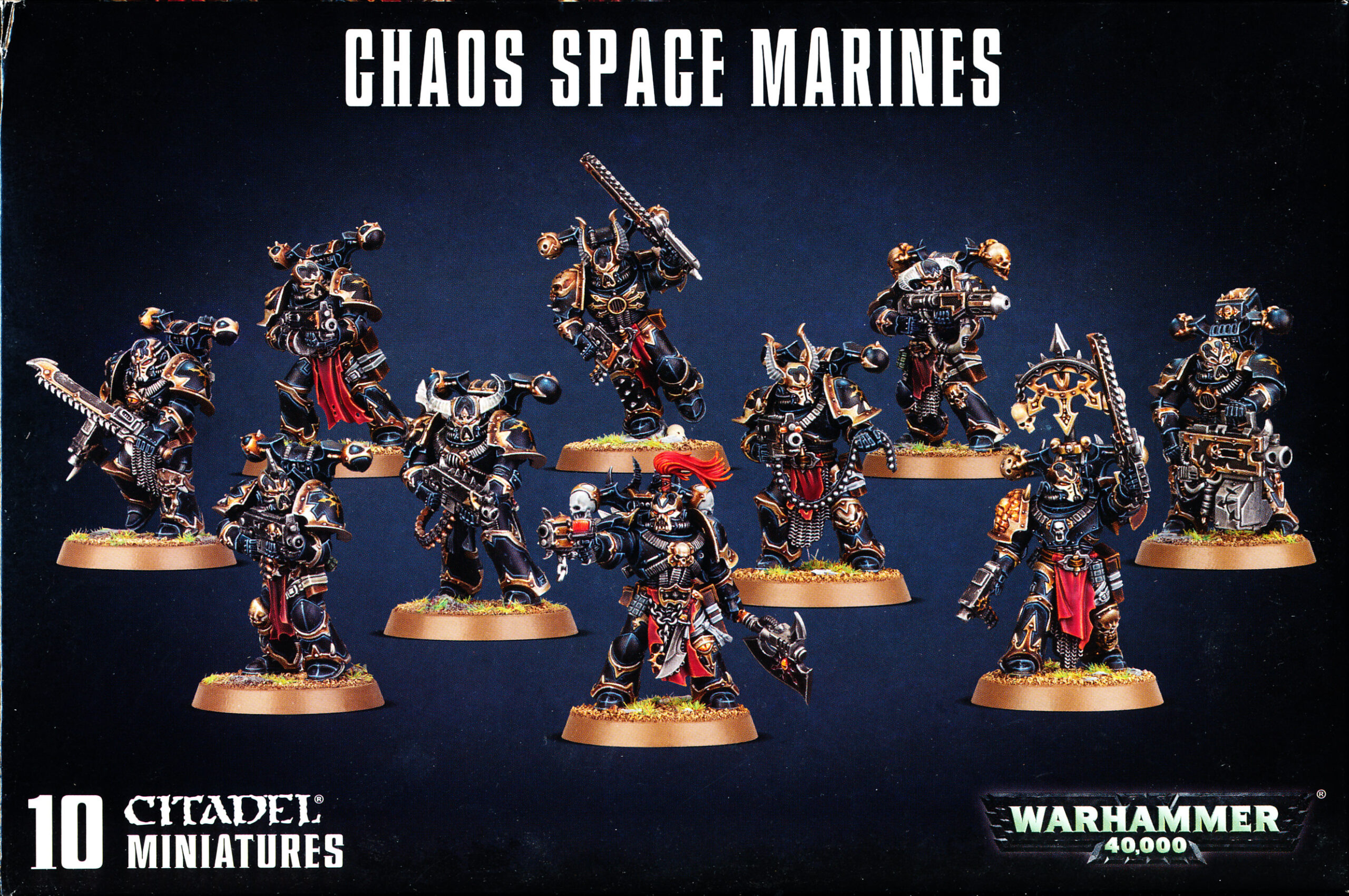 Chaos Space Marines 10 Miniatures