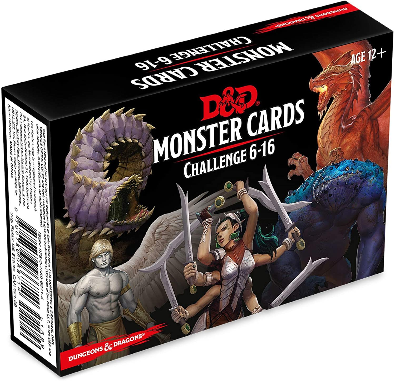 Dungeons & Dragons Monster Cards: Challenge 6-16