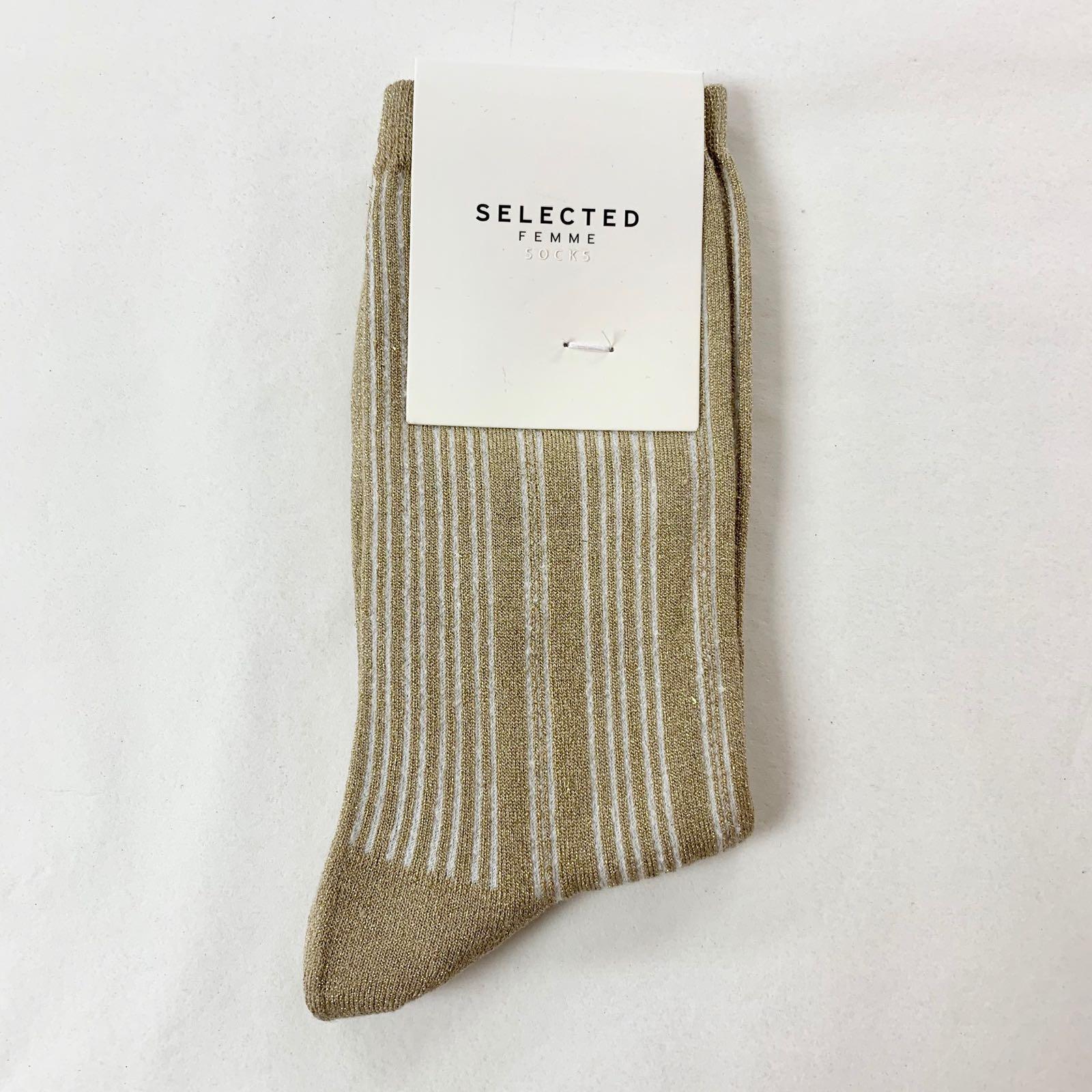 Lana Sock Gold Striped