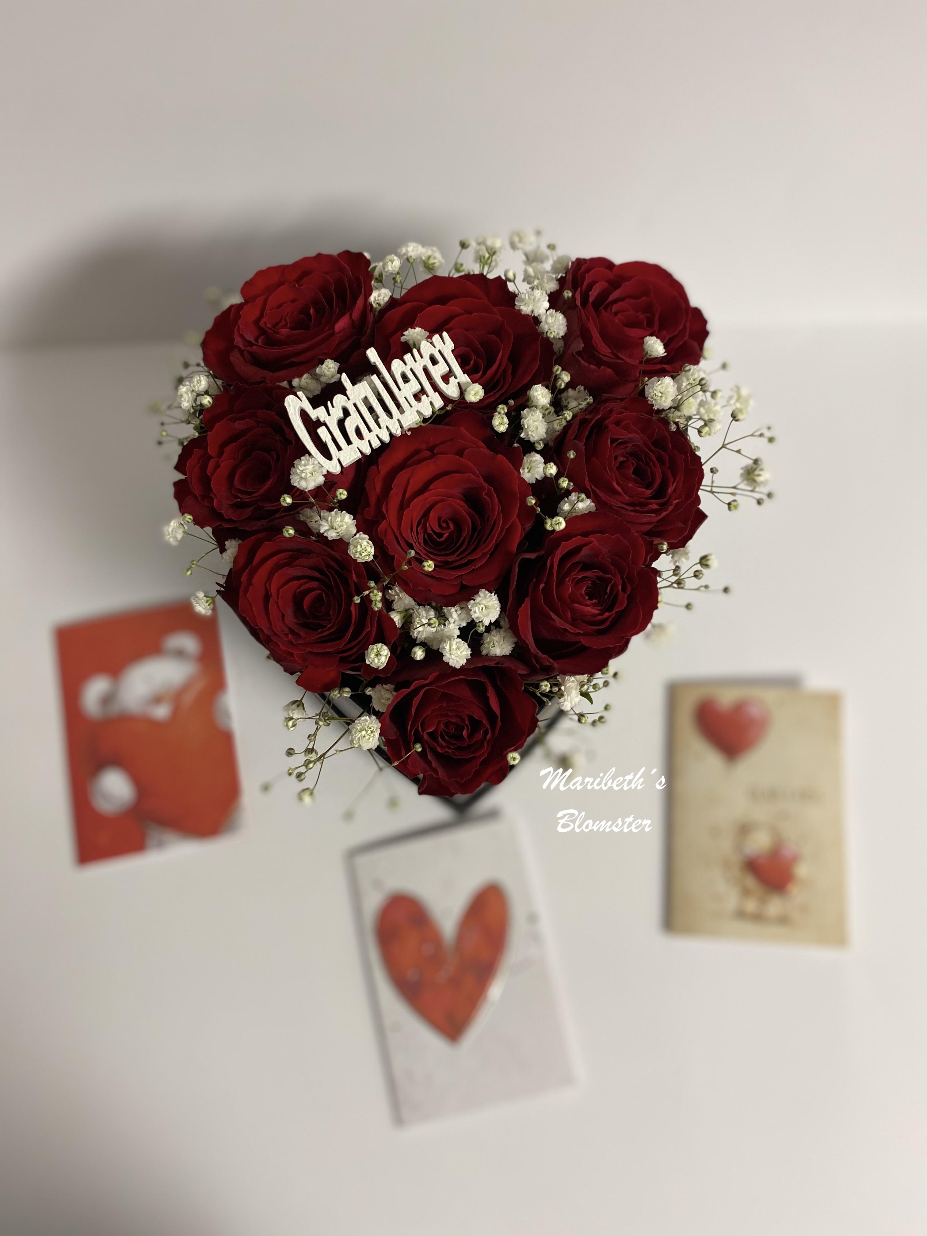 Hjerteboks dekorasjon