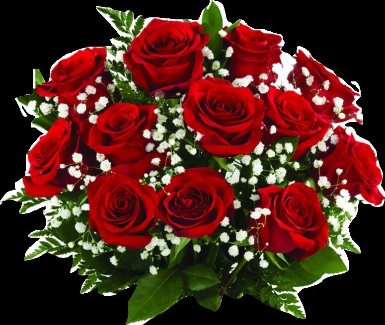 Dekorasjon i røde roser m/ brudeslør