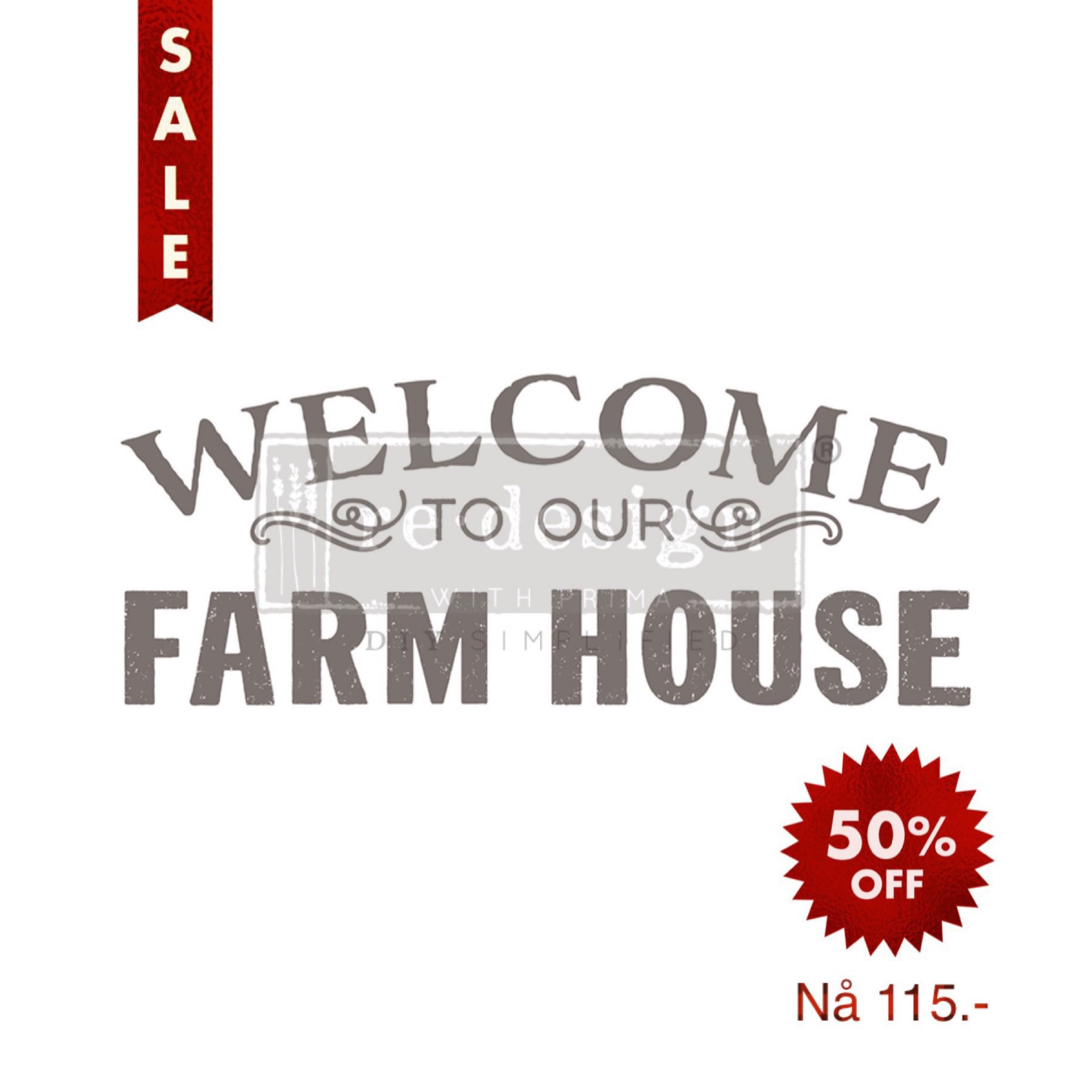 Re-Design with Prima Decor Transfer - Our Farm House