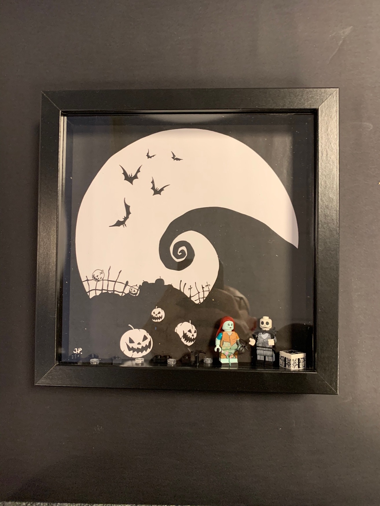 Tavla 25x25cm, Nightmare before christmas + legofigurer